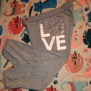 Victoria Secret PINK cropped sweats.